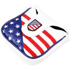 Usa Flag Golf Square Mallet Headcover Putter Covers For Odyssey Scotty Cameron