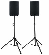 "2x DJ PA 12"" Aktiv Lautsprecher Set Box Bluetooth Monitor Stativ Stereo 2000W"