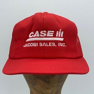 Vintage Case IH Jacobi Sales Inc Red K Products Made In USA Snapback Hat