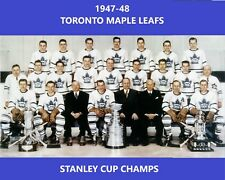 TORONTO MAPLE LEAFS 1947-48 TEAM 8X10 PHOTO HOCKEY PICTURE NHL STANLEY CUP CHAMP
