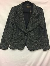 Target black and white textured jacket size 10