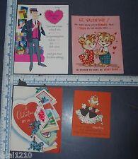 Vintage Valentine Cards Unused Lot Of 4