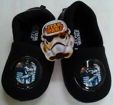 NWT DISNEY STAR WARS BOYS NAVY SLIPPERS SHOES SIZE 9-10