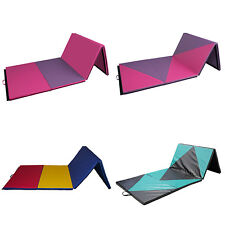 "4'x10'x2"" Folding Gymnastics Mat Thick Fitness Stretching Panel Workout Tumble"