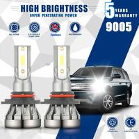 MINI LED Headlight Kit 9005 HB3 H10 9140 9145 2400W 6000K 260000LM Fog Bulbs USA