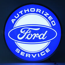 """Authorized Ford Service Back Lit Led Sign - Mustang - F-150 - Lamp - 15"""""""