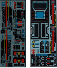 TRANSFORMERS GENERATION 1, G1 AUTOBOT FORTRESS MAXIMUS REPRO LABELS/ STICKERS