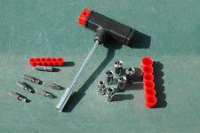 13PCs T-Handle Socket & Bit Set T-Bar Screwdriver Set Nut spinner Set Socket Kit