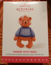 Hallmark 2015 Christmas Ornament Hangin With Teddy Member Exclusive New