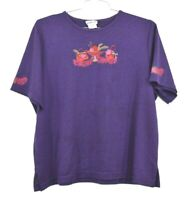 BonWorth Women's Red Hat Society Shirt Cotton Casual Purple Everyday Size XL