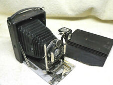 Krugener 9x12 cm Folding Bed Plate Camera w/ Goerz 135mm Lens,3 Plates in Wallet