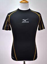 Mizuno Men's Biogear Compression Short Sleeve Shirt Baseball Undershirt Black M