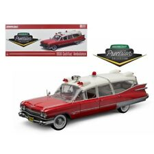 1959 Cadillac Ambulance Red and White Precision Collection 1/18 Diecast Model C