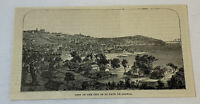 1885 magazine engraving ~ VIEW OF ST PAUL DE LOANDA, Congo