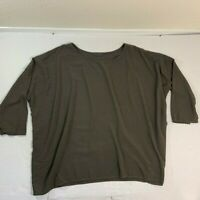 CP Shades Oversized Olive Greem Tunic Pullover Blouse Top M Medium