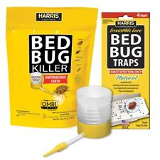 32 oz. Diatomaceous Earth Bed Bug Killer Insect Control Bed Bug Trap Value Pack