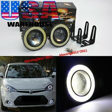 "2X 3.0"" High Power LED Fog Lights Projector With White COB Halo Angel Eye Rings"