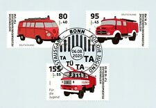 BRD 2020: Feuerwehrfahrzeuge! Jugendmarken Nr. 3557-3559! Bonn-Stempel! 1A 20-08