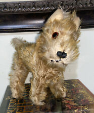 Antique Mohair Dog Terrier? Schnauzer? Steiff? Deans? Glass Eyes Turned Head