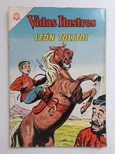 VIDAS ILUSTRES #107 - LEÓN TOLSTOI - ORIGINAL IN SPANISH VERSION -COMIC NOVARO