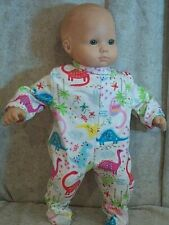 """Doll Clothes Baby Made 2 Fit American Girl 15"""" inch Bitty Pajamas Dinosaurs"""