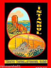 Istanbul Turkey 1939 Vintage Style Turkish Travel Poster 24x36