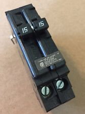 Challenger Twin Tandem 15 Amp Circuit Breaker Type A A1515 Has Side Clips