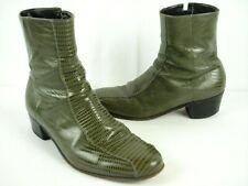 Vintage Florsheim Designer Collection Ankle Boots Lizard sz 9.5 D