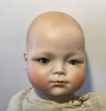 Antique Schoenau & Hoffmeister Porcelain Baby Doll Blue Eyes Germany S Pb H 12�