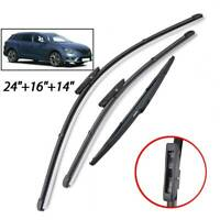 Front Rear Windscreen Wiper Blades Set For Renault Megane Sport Tourer Estate 3