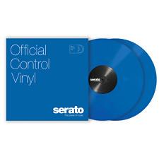 "2x Serato Standard Colours Timecode Vinyl Record for DVS DJ (PAIR) - BLUE 12"""