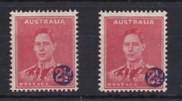 APD223) Australia 1941 2½d on 2d surcharge, overprint misplaced to right