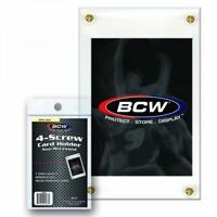 (5 Count Lot) BCW 4-Screw Screw-Down Trading Card Holder Regular Non-Recessed