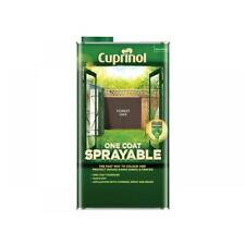 Cuprinol One Coat Sprayable Fence Shed Treatment Paint Wood Forest Oak 5L