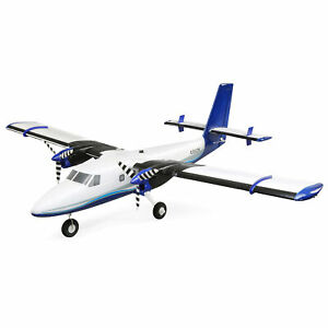 E-Flite RC Airplane Twin Otter 1.2m Plug N Play includes Floats
