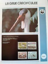 WWF Lot de feuilles 4 FDC + série OISEAU GRUE CARONCULEE Malawi 1987