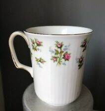 Royal Albert Winsome Coffee Ribbed Single Mug Cup Floral Wild Roses Bone China