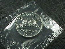 CANADA    5  Cents   1972    BRILLIANT  UNCIRCULATED  ,   Mint set  ,  BEAVER