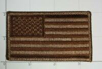 USA Flag Patch BDU Camo Subdued Brown Old Glory United States