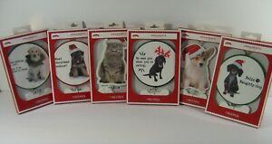 Christmas Tree Pet Ornaments Dogs and Cat Ceramic Hanging Gift FREE SHIPPING