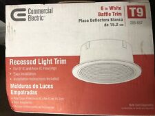 Commercial Electric 6 in. R40 White Baffle Recessed Light Trim T9 White