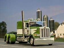 "1/64 DCP GREEN/WHITE PETERBILT 389 W/ 63"" FLAT TOP SLEEPER"