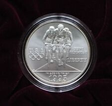 1995D Olympic Cyclist UNC-MS  $1 Silver Coin