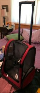 Snoozer Roll Around 4-in-1 Pet Carrier (Red and Black)