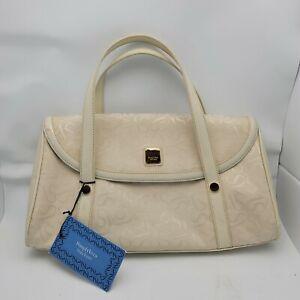Simply Vera Monogram Logo Purse Handbag Vera Wang White Cream Gold NWT