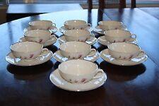 Franciscan CARMEL 10 Teacup and 10 Saucer Set