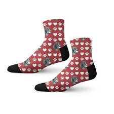 Bluetick Coonhound Dog Red Paw Heart Fun Cool Novelty 3.5 in Men Women Socks