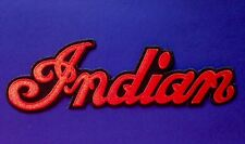"INDIAN MOTORCYCLE EMBROIDERED ""INDIAN SCRIPT"" PATCH 5"" x 1 1/2"" ~ PRISTINE!"