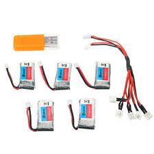 5x 3.7V 260mAh 30C Batterie + USB Ladegerät Set für Eachine E011 RC Quadcopter