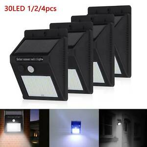 30 LED Solar Powered PIR Motion Sensor Wall Security Light Garden Outdoor Lamp
